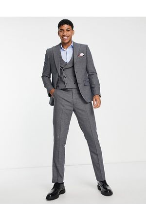 Harry Brown Small check slim fit suit jacket