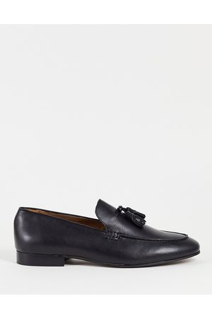 H by Hudson Bolton Tassel Loafers in leather