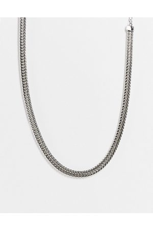 DesignB London Flat chunky chain necklace in