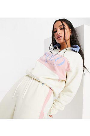 Polo Ralph Lauren X ASOS exclusive collab logo half zip sweatshirt in cream