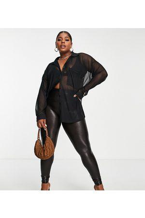 Spanx Plus Faux leather croc legging in