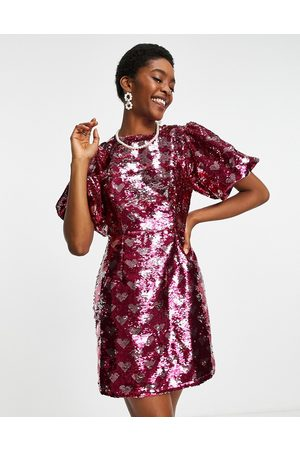 Sister Jane Women Evening Dresses - Mini dress in all over sequin hearts