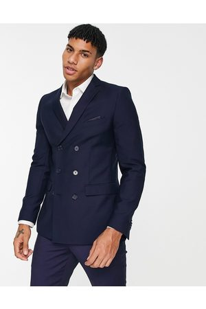 French Connection Men Blazers - Skinny fit double breasted suit jacket-Navy