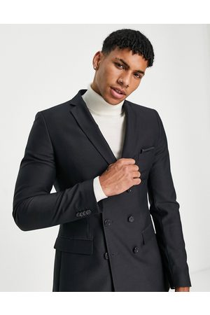 French Connection Men Blazers - Skinny fit double breasted suit jacket