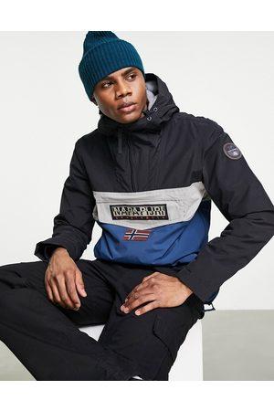Napapijri Men Jackets - Rainforest block jacket in black/