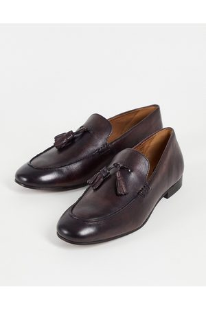 H by Hudson Men Loafers - Bolton Tassel Loafers in leather