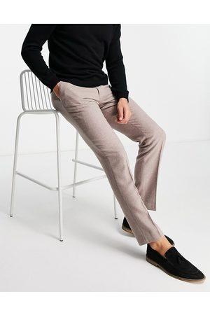 Harry Brown Men Formal Pants - Wedding wool blend slim fit tweed suit trouser