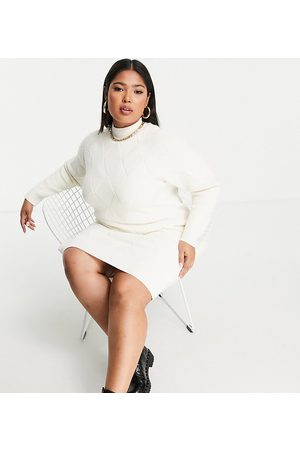 Fashion Union Women Casual Dresses - Chunky roll neck knitted jumper dress
