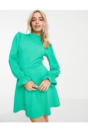 Miss Selfridge Women Casual Dresses - Textured jersey fit and flare dress in