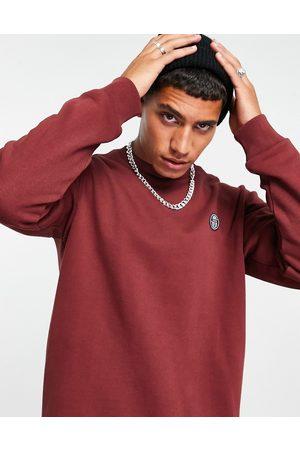 Sergio Tacchini Men Sweatshirts - Sweatshirt with logo in burgundy