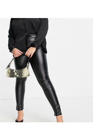 In The Style Plus Women Leggings - X Jac Jossa leather look trousers in