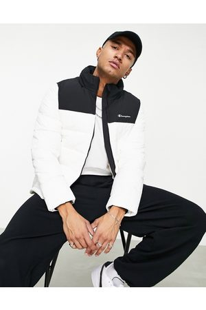 Champion Men Jackets - Puffer jacket with small logo in black and