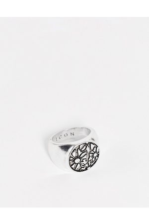 Icon Brand Floral cluster signet ring in