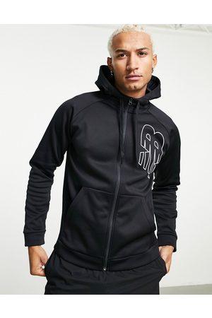 New Balance Tenacity zip thru hoodie with logo in