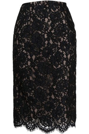 Nº21 Scalloped lace-detail skirt
