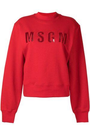 MSGM Logo embossed sweatshirt