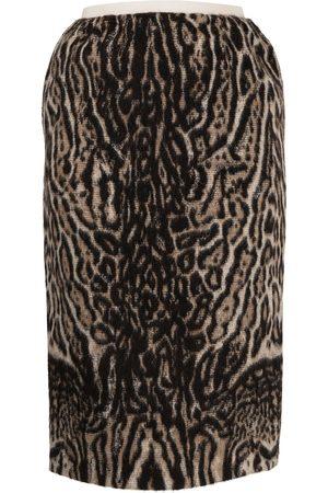 Nº21 Animal-print midi skirt
