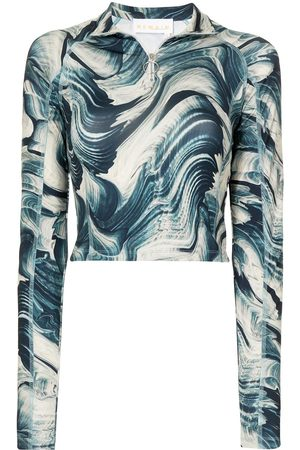REMAIN Wave print cropped top