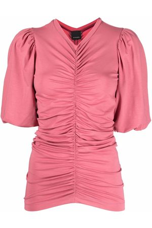 Pinko Ruched-design blouse