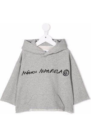 MM6 KIDS Logo-print cotton hoodie