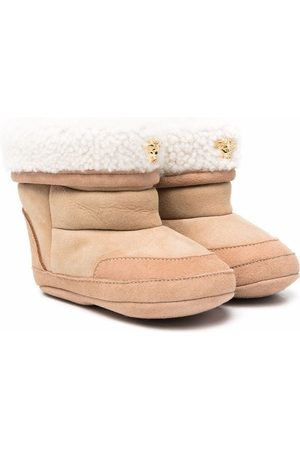 VERSACE Shearling-lined boots
