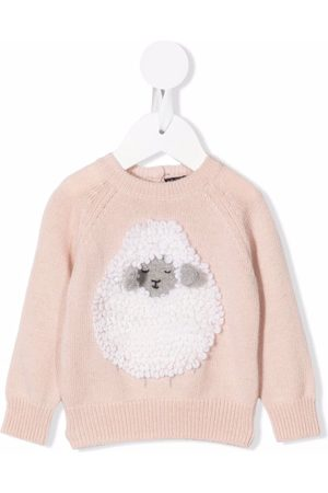 Il gufo Sheep-ornament knitted sweater