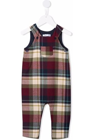 KNOT Horance check-pattern overalls