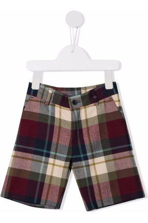 KNOT Reid check-pattern shorts