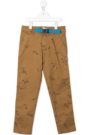 The Marc Jacobs Girls Pants - All-over logo-print straight-leg trousers