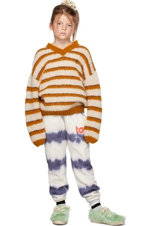 The Animals Observatory Kids Off-White & Stripes Toucan Sweater