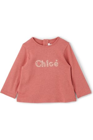 Chloé Long Sleeve - Baby & Gold Logo Long Sleeve T-Shirt
