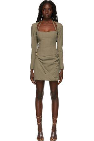 Jacquemus Khaki La Montagne 'La Robe Esca' Dress