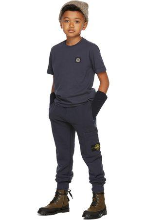 Stone Island Pants - Kids Navy Classic Lounge Pants