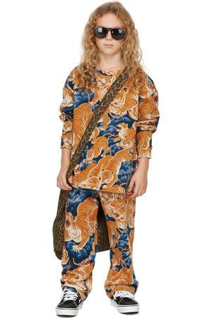 BO(Y)SMANS Long Sleeve - Kids Blue & Orange Tiger Long Sleeve T-Shirt