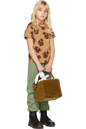 Mini Rodini Short Sleeve - Kids Tan Squirrel T-Shirt