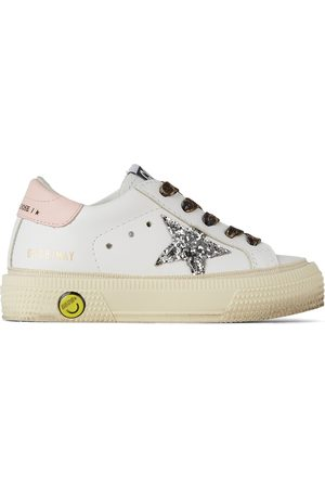 Golden Goose Sneakers - Baby & Silver Glitter May Sneakers