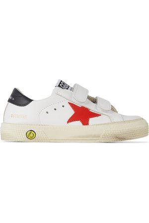 Golden Goose Sneakers - Baby & Red May School Velcro Sneakers