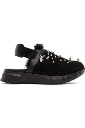 Givenchy Men Loafers - Suede & Shearling Marshmallow Clog Loafers