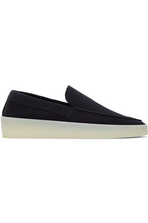 FEAR OF GOD Men Loafers - Navy Suede 'The Loafer' Loafers