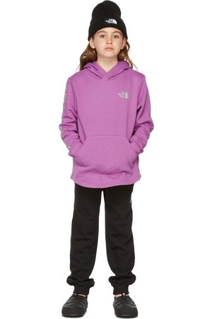 The North Face Jumpers - Kids Purple Camp Fleece Pullover Hoodie