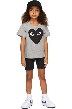 Comme des Garçons Short Sleeve - Kids & Black Big Heart T-Shirt