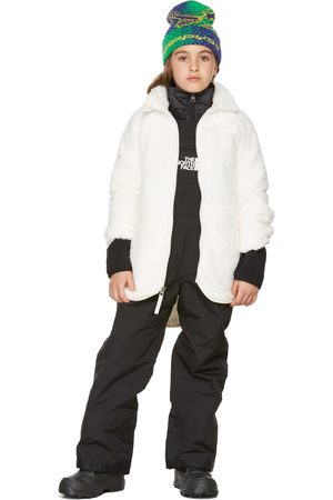 The North Face Kids White Fleece Suave Long Jacket