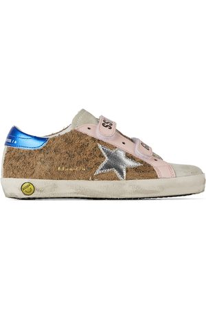 Golden Goose Sneakers - Baby Tan Leopard Old School Velcro Sneakers