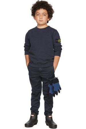 Stone Island Sweatshirts - Kids Navy Classic Sweatshirt