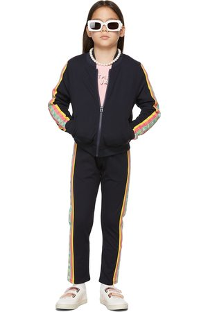 Marc Jacobs Hoodies - Kids Navy 'The Track Jacket' Zip-Up Jacket