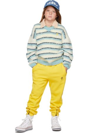 The Animals Observatory Jumpers - Kids White & Stripes Toucan Sweater