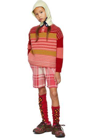 Ligne Noire Kids & Pink Virgin Wool Stripe Sweater
