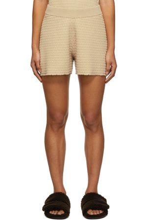 Dagmar Women Shorts - Beige Knitted Geri Short