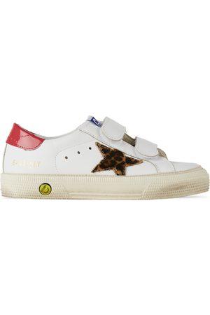 Golden Goose Kids & Leopard May School Velcro Sneakers