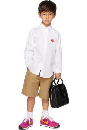 Comme des Garçons Kids Patch Long Sleeve Shirt